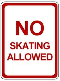 No skating allowed sign Royalty Free Stock Image