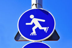 No skating sign Royalty Free Stock Image