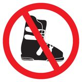 No ski boot Stock Photo