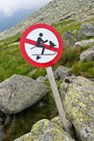 No ski sign Royalty Free Stock Image