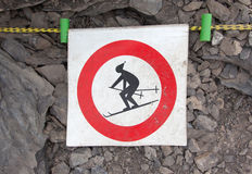 No ski sign Royalty Free Stock Images