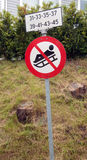No sledging sign Royalty Free Stock Photos