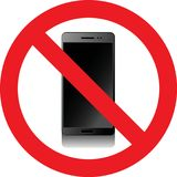 No smartphones sign. No smartphones allowed sign Royalty Free Stock Photos