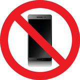 No smartphones sign. No smartphones allowed sign Royalty Free Stock Photography