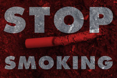 No smoke cigarette or tobacco leave drop on the ground, world no Royalty Free Stock Images