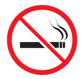 No smoking. An image showing no smoking sign Stock Photos