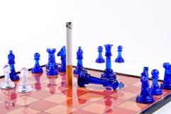 No smoking. A chess board showing the danger of smoking Stock Photos