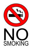 No smoking. Cigarette sign illustration Royalty Free Stock Images