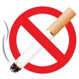 No smoking. Icon isolated on the white background Stock Photo