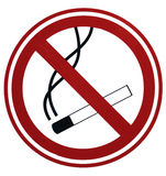 No smoking. Sign close up Royalty Free Stock Photos
