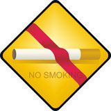 No smoking. Symbol for no smoking area Stock Photography