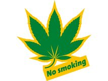 No smoking. An illustration using the well known slogan of No Smoking concerned with drugs Royalty Free Stock Image