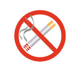 No smoking. An image showing no smoking with an illustration of a cigarette sign royalty free illustration