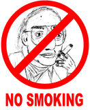 No Smoking. Sign with illustration Stock Image