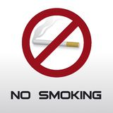 No Smoking. Illustation of No Smoking warning sign Vector Illustration