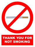 No smoking. Sign for print use Royalty Free Stock Images