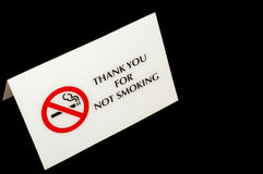 No Smoking Sign. Thank you for Not smoking. Polite No Smoking Sign Stock Images