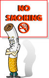 No Smoking. This is one bummed cigarette; no one likes him any more Royalty Free Stock Photo
