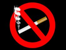 No Smoking. Sign on black with clipping path vector illustration
