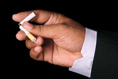 No smoking. Businessman broken the cigarette, no smoking concept