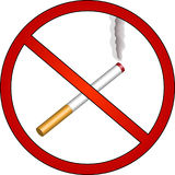 No smoking. Sign depicting that smoking is forbidden Royalty Free Stock Images