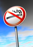 No smoking. Sign against the blue sky Stock Images