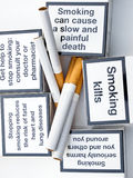 No smoking. Messages of a warning about one bad habit Stock Photography