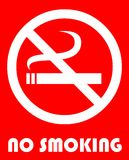 No smoking. Sign in red and white Stock Image