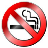 No smoking. Sign in 3d Royalty Free Stock Images