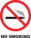 No smoking. Vectorial sign isolated Royalty Free Stock Photo