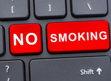 No smoking advertising in closeup Stock Photos