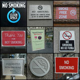No Smoking Anywhere Royalty Free Stock Photos