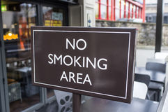 No Smoking Area. A sign stating that this is a no smoking area Royalty Free Stock Photo