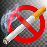 No smoking area label. EPS 10 Royalty Free Stock Photography