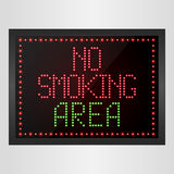 No Smoking Area Notice LED digital Sign Royalty Free Stock Photography