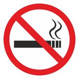 No Smoking area sign. Not alloe allow the smoking Royalty Free Stock Images