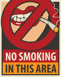 No smoking in this area Royalty Free Stock Photo