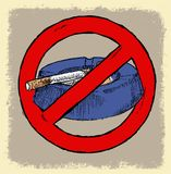 NO SMOKING AREA SYMBOL. Vector art sign symbol or illustration Stock Photography