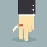 No smoking business hand Royalty Free Stock Images