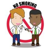 No smoking businessman. Stock Image