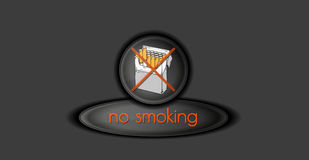 No smoking button Royalty Free Stock Photo