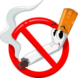 No smoking cartoon Royalty Free Stock Image