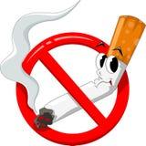 No smoking cartoon Royalty Free Stock Image