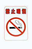 No smoking with chinese Royalty Free Stock Photos