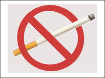 No Smoking cigarette Royalty Free Stock Photos