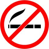 No smoking, cigarette prohibited symbol. Vector. Royalty Free Stock Photography