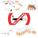 No smoking collage Stock Photos