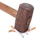 No Smoking. Concept: willpower and a healthy lifestyle. No Smoking Royalty Free Stock Photography