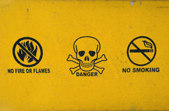 No smoking- Danger - No fire Royalty Free Stock Photos