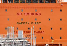 No Smoking, Dangerous Cargo Royalty Free Stock Photo